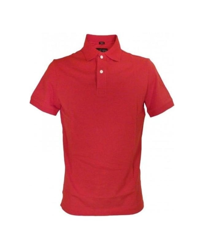Armani Red Regular Fit Polo
