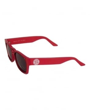 Stone Island Red Retro Sunglasses