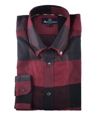 Aquascutum Red Rigby Flannel Check Shirt