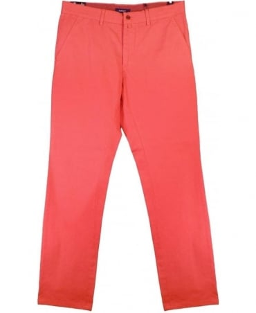 Red Soho Zip Fly Chino