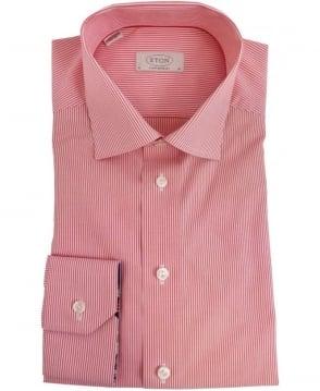 Eton Shirts Red Stripe Shirt 2356793255541