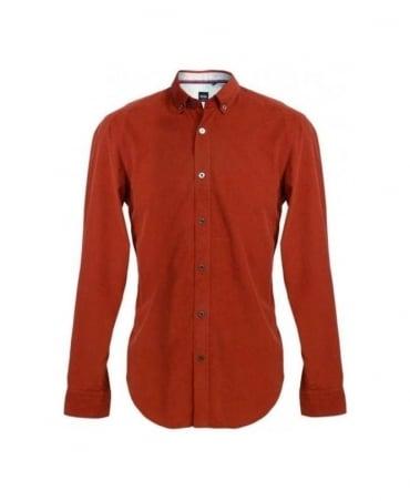 Hugo Boss Red Sven 50254062 Cord Shirt