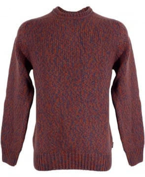 Paul Smith  Red Twisted Yarn Sweater