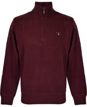 Gant Red Zip Up Knitwear Sweatshirt