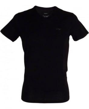 Armani Jeans Regular-fit V-neck T-shirt In Black