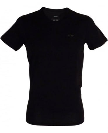 Armani Regular-fit V-neck T-shirt In Black