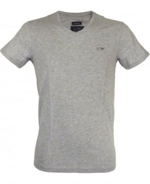 Armani Jeans Regular-fit V-neck T-shirt In Marl Grey