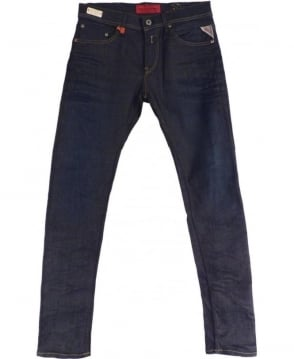 Replay Dark Blue Skinny Fit Hyperflex 'Jondrill' Jeans