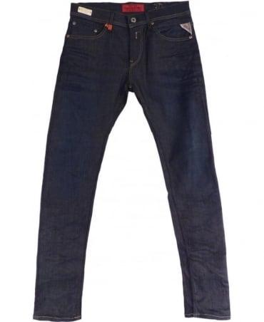 Replay Dark Blue Skinny Fit Hyperflex 'Jondrill' Jeans