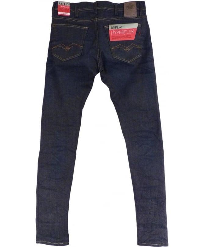 af40c230f3c71 Replay Dark Blue Skinny Fit Hyperflex  Jondrill  Jeans - Jeans from ...