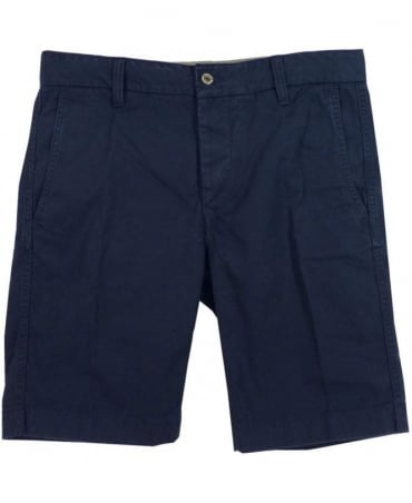 Replay Night Blue Cotton Shorts