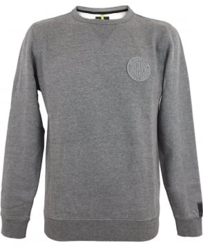 Replay Ribbed Cotton Blend Sweatshirt In Grey