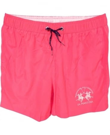 La Martina Rose Pink HM001 Two Pocket Swimming Trunks