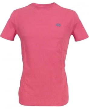 La Martina Rose Pink HMR018 Crew Neck T-Shirt