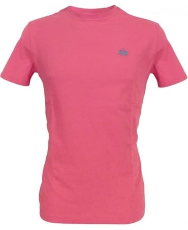 La Martina Rose Pink HMR018 Crew Neck T-Shirt