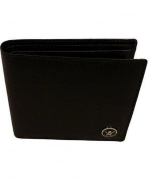 Hackett Saffiano Bill And Coin Wallet In Black