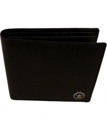 Hackett Saffiano Bill And Coin Wallet In Black