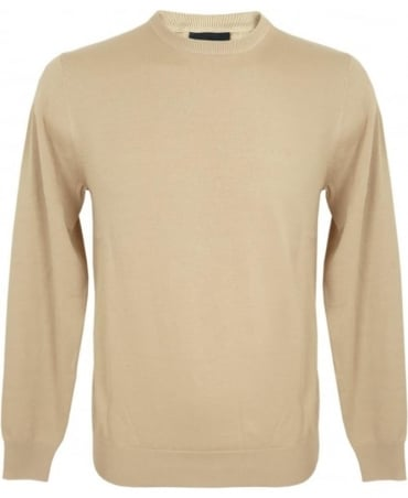 Armani Jeans Sandy Beige Knitted Jumper