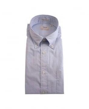 Gant Sea Blue Yale Archive Pinpoint Shirt