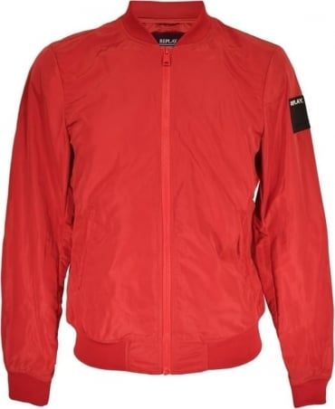 Shiny Ruby Red M8814 Blouson