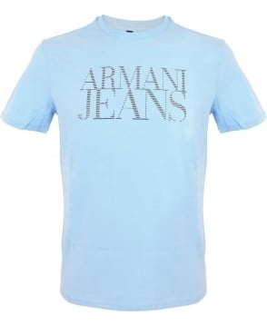 Armani Jeans Short Sleeved T-shirt In Light Blue