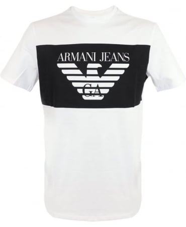 Armani Jeans Short Sleeved T-shirt In White