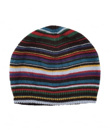 Paul Smith  Signature Stripe ARXC-456B-V128-X Wool Blend Beanie Hat