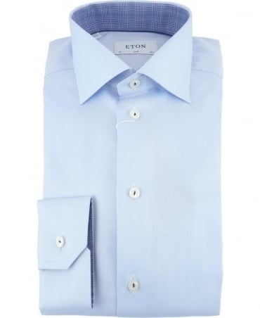 Eton Shirts Signature Twill Slim Fit Shirt In Light Blue