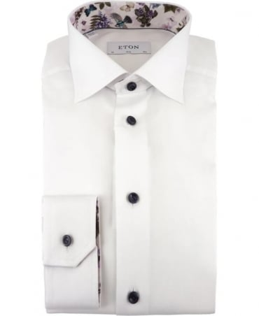 Eton Shirts Signature Twill Slim Fit Shirt In White