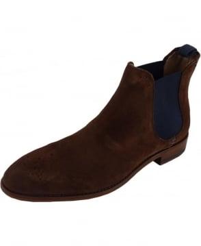Oliver Sweeney Silsden Chocolate Suede Chelsea Boot
