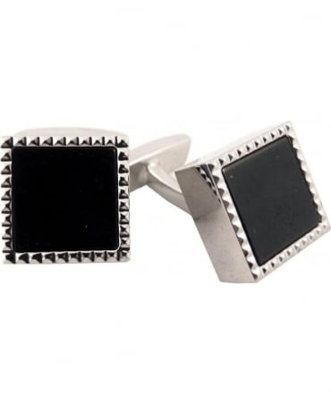 Hugo Boss Silver Brass Gisbo Cufflinks 50261614