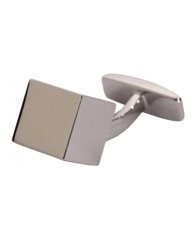 Hugo Boss Silver Coloured Cube Cufflinks