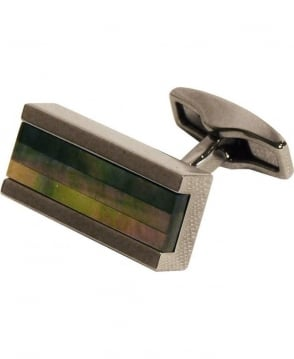 Hugo Boss Silver & Shimmery Panels Cufflinks