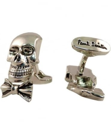 Paul Smith - Accessories  Silver Tone Skull & Bow Tie 2y Cufflinks AKXX/CUFF/SKULL