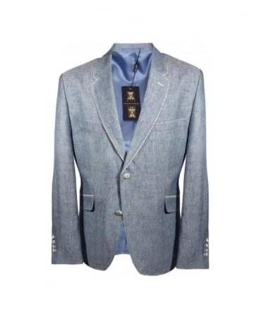 Holland Esq Sky Blue Riding Pipe Jacket