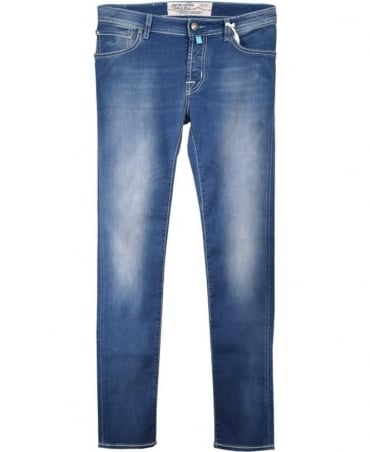 Jacob Cohen Sky Blue Wash J622 COMF Fit Hand Made Jeans