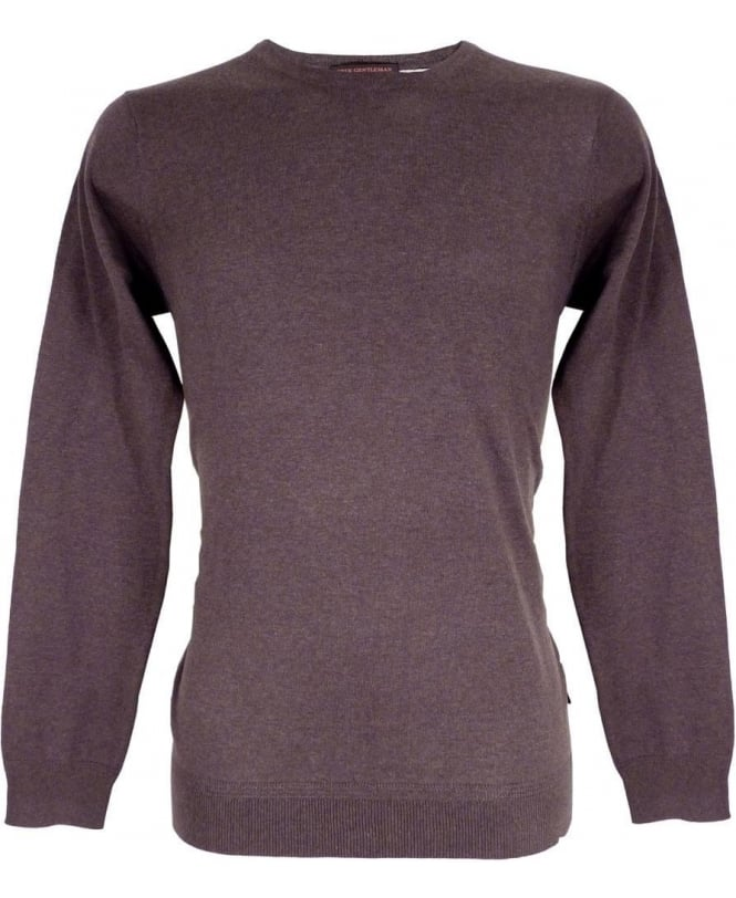 Scotch & Soda Slate Grey 127255 Melange Fabric Crew Neck Knitwear