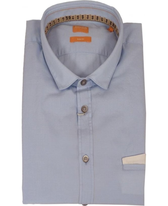 Hugo Boss Slim Fit 'EmisoE' Shirt In Light Blue
