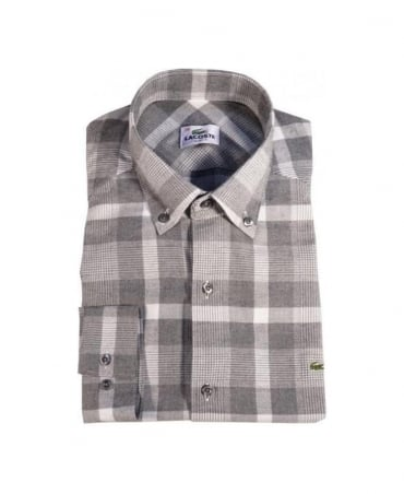 Slim Fit Grey Check Shirt