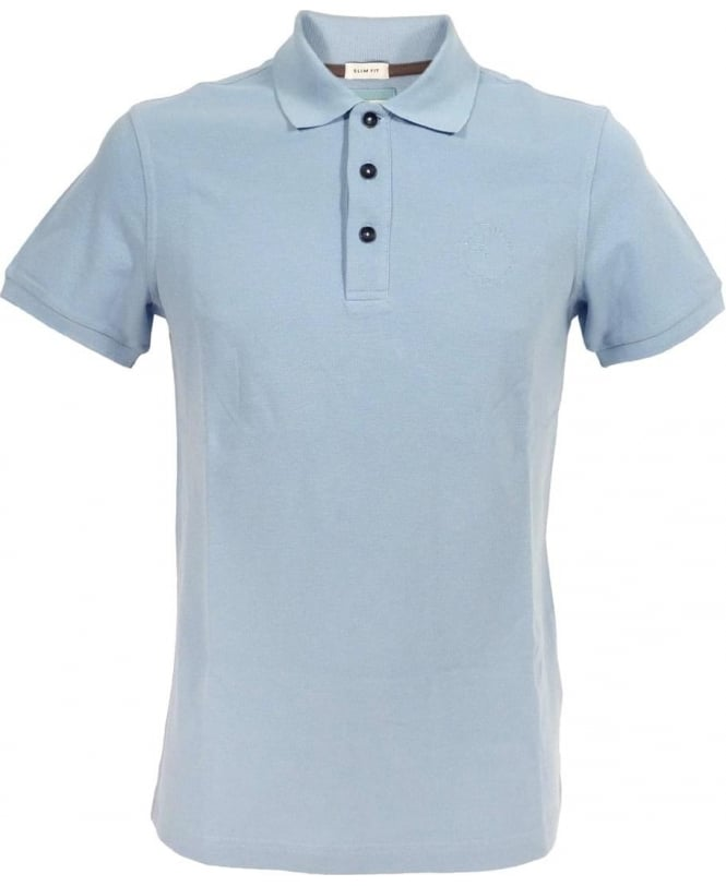 Armani Collezioni Slim Fit Polo Shirt In Light Blue