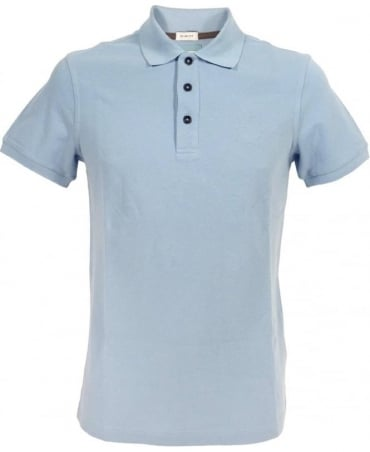 Slim Fit Polo Shirt In Light Blue