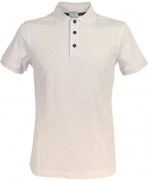 Armani Collezioni Slim Fit Polo Shirt In White