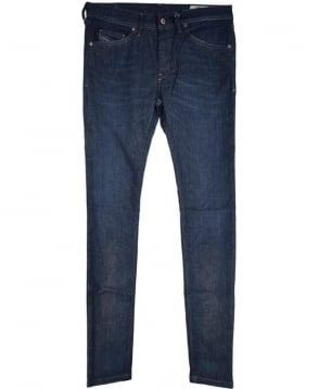 Diesel Slim-Skinny Dark Blue Stretch Stickker Jean