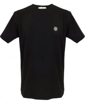 Stone Island Small Logo Patch T-shirt In Black