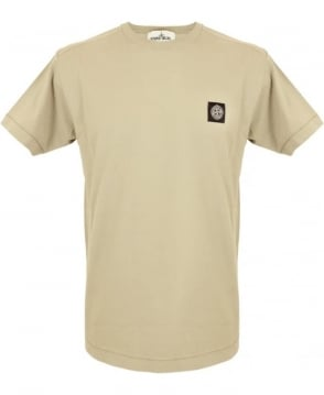 Stone Island Small Logo Patch T-shirt In Light Brown