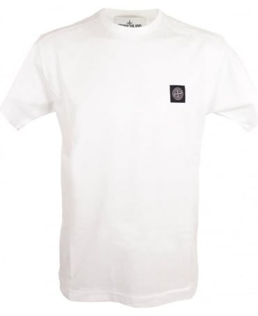 Stone Island Small Logo Patch T-shirt In White