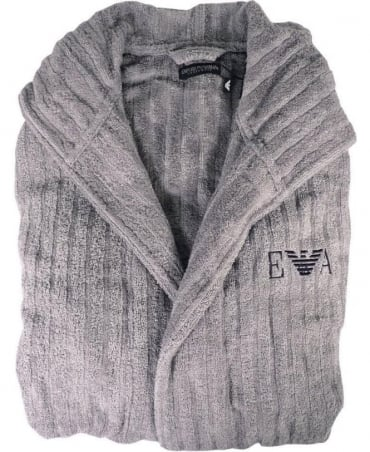Emporio Armani  Smoke Grey 110799 Hooded Bathrobe