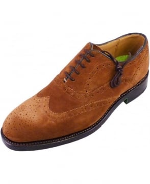 Oliver Sweeney Snuff Brown Suede Aldeburgh Oxford Brogue