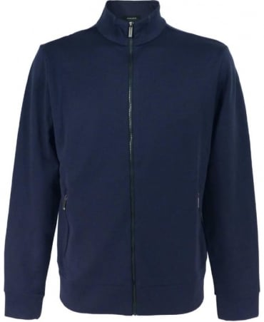 Hugo Boss 'Sommers 08' Sweatshirt Jacket In Dark Blue