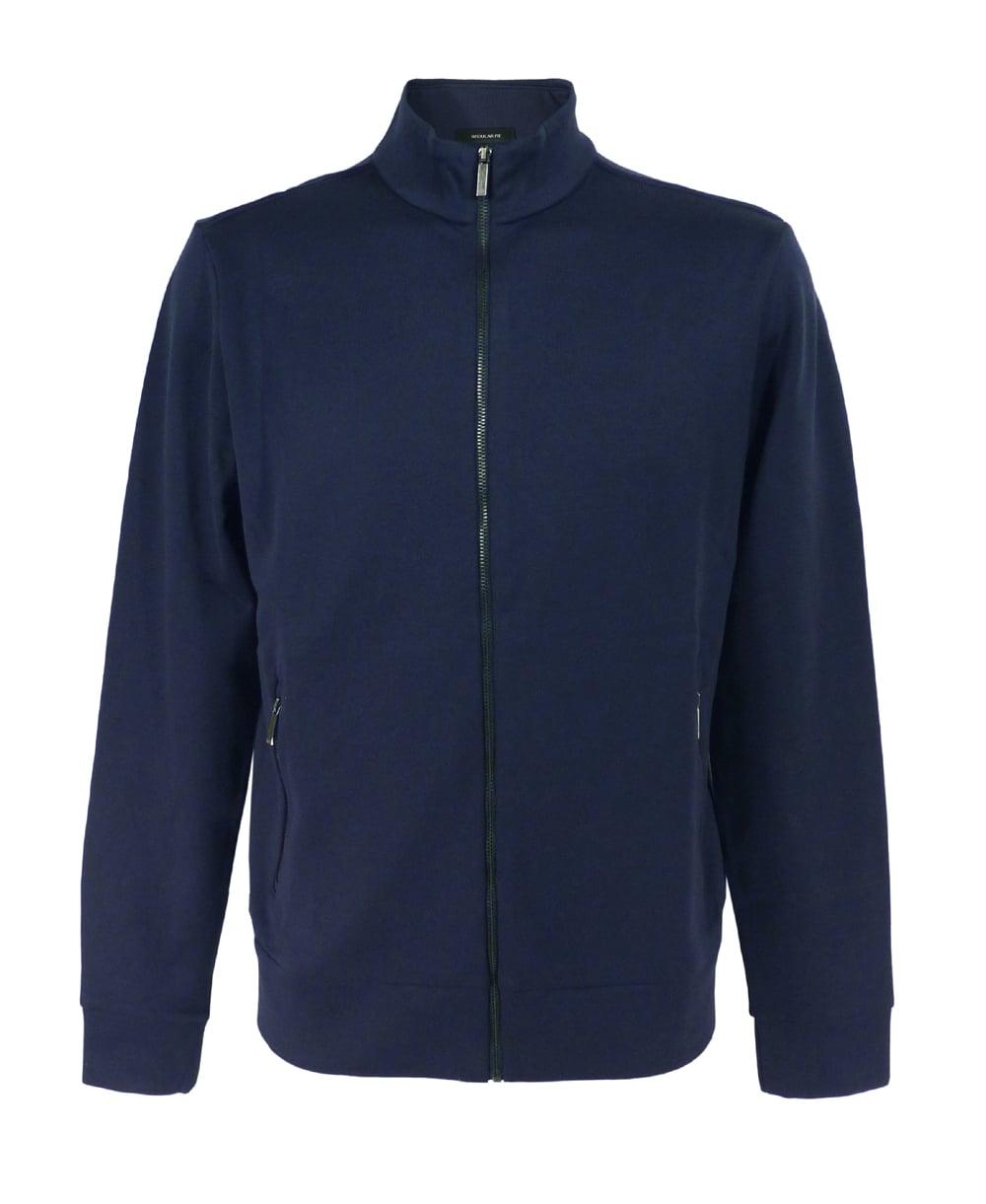 hugo boss 39 sommers 08 39 sweatshirt jacket in dark blue. Black Bedroom Furniture Sets. Home Design Ideas